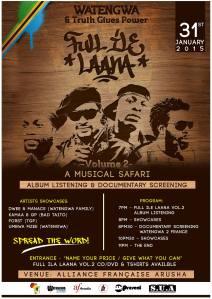 Poster album release event Arusha